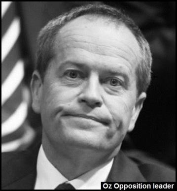 Bill Shorten Oz Opposition leader