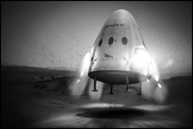 Elon Musk Space X Dragon
