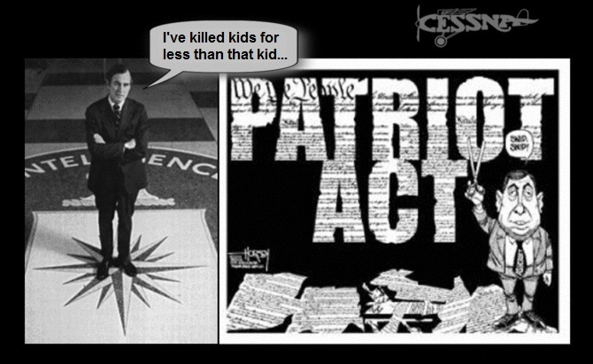 George-bush-cia-patriot-act-killed-kids