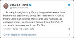 Idiot fake Trump Tweet