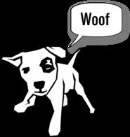 Little doggie WOOF Trans
