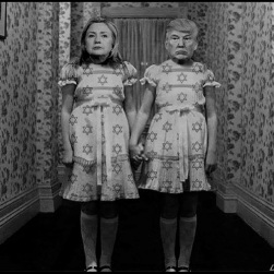 Trump and Hillary Israel dress BW 800