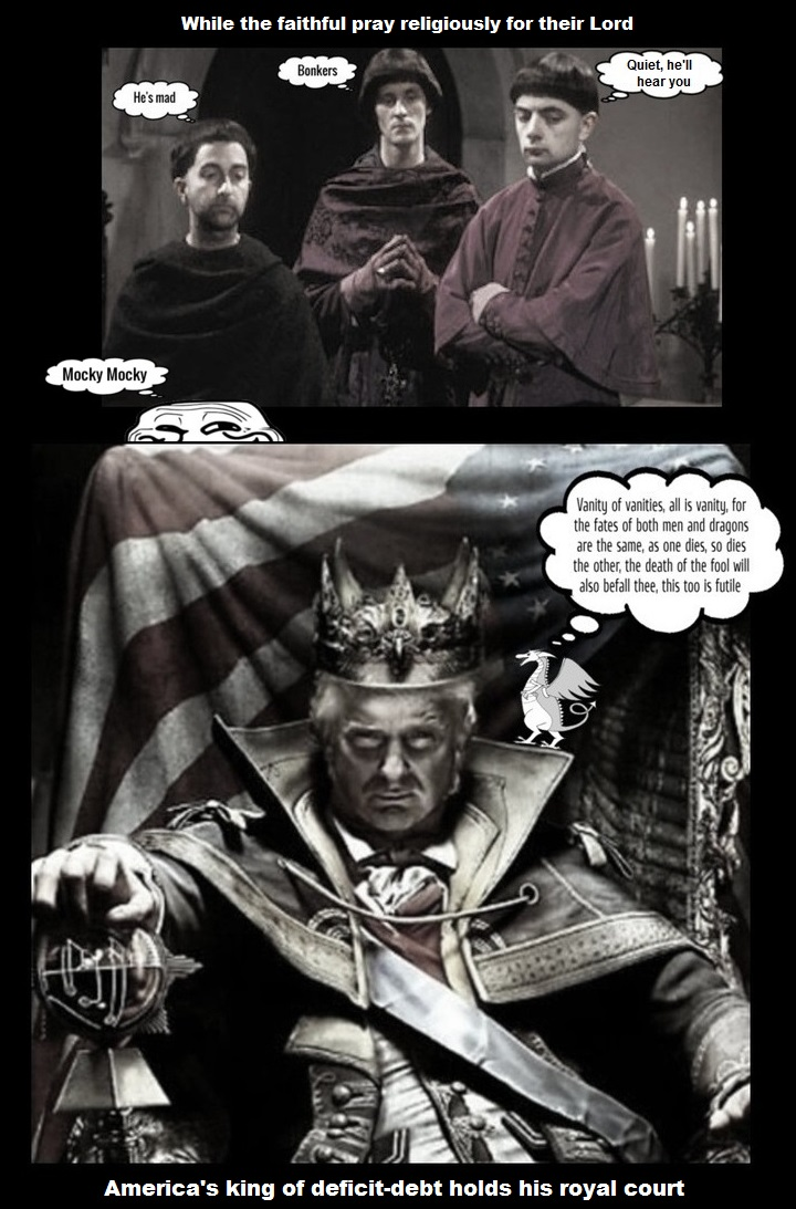 KIng Trump and advisors