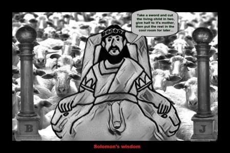 Solomon's Wisdom pillars of BJ Sword Sheep child LARGE