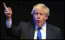 Boris Johnson black background