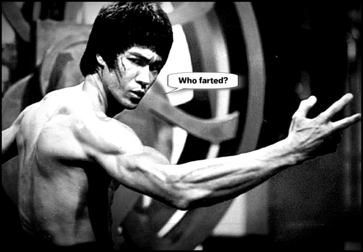 Bruce Lee who farted 800
