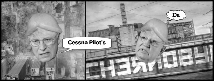 Cheney Gorbachev dcikhead Cessna PIlot's DA LARGE