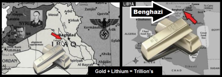 Iraq Libya GOLD + Lithium = TRILLIONS
