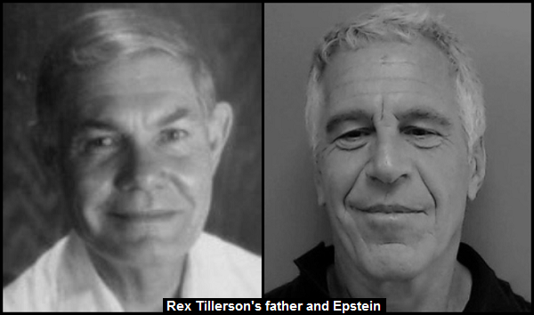 REX TILLERSON'S FATHER and EPSTEIN 600