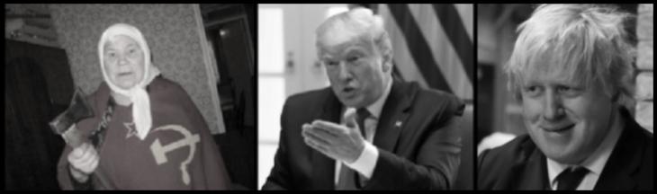 Russian lady Faux Trump Johnson