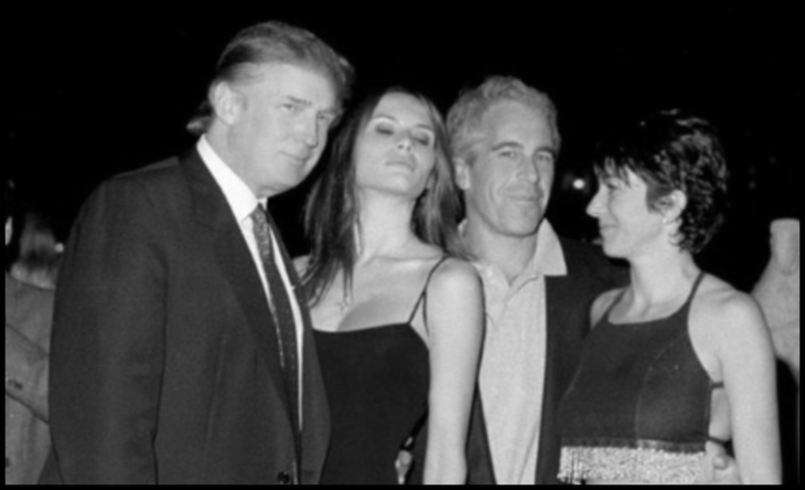 Trump twin Mellania x Epstein BW Large