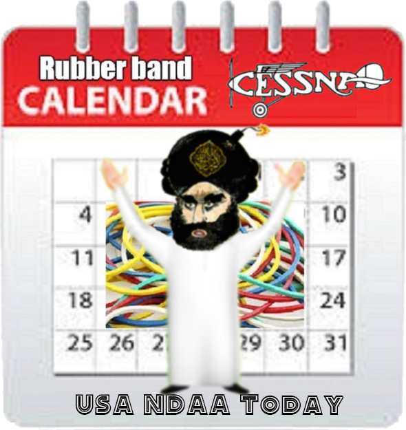 USA NDAA Rubber Band Calendar 590 (1)