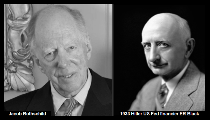 Jacob Rothschild 1933 Hitler US Fed financier Eugene ER Black