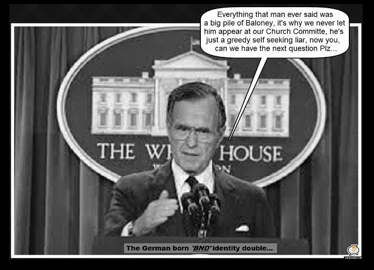 Bush 41 BND ~ Next question please ~ Broader border 730
