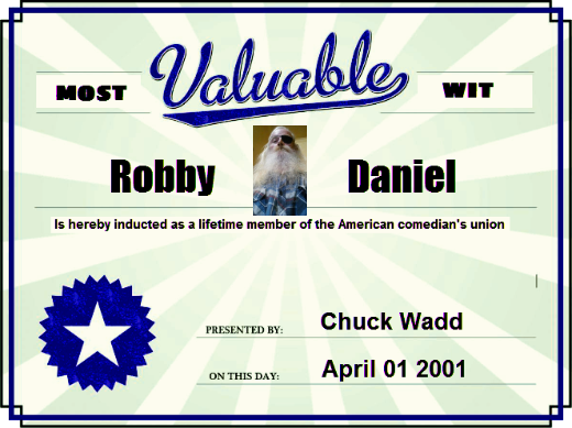Most Valuable American comedians union ROBBY DANIEL 520