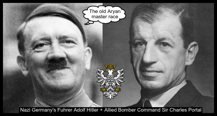 Hitler and Air Vice Marshall POrtal Treason Prussian Eagle 730 THE OLD ARYAN MASTER RACE