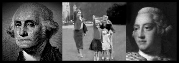 George Washington Royal Family Nazi Salute King George 730 BORDER