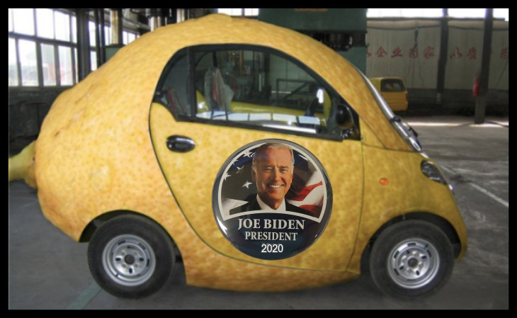 Lemon car BORDER Biden President 730