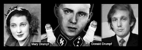 mengele-mary-drumpf-donald-drumpf-BW 600-thick-border