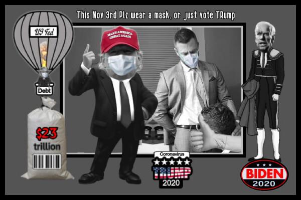 Washington Politics TRump Biden EDIT BJ weird mask thumbs-up 600 BORDER10 MQ Coronavirus