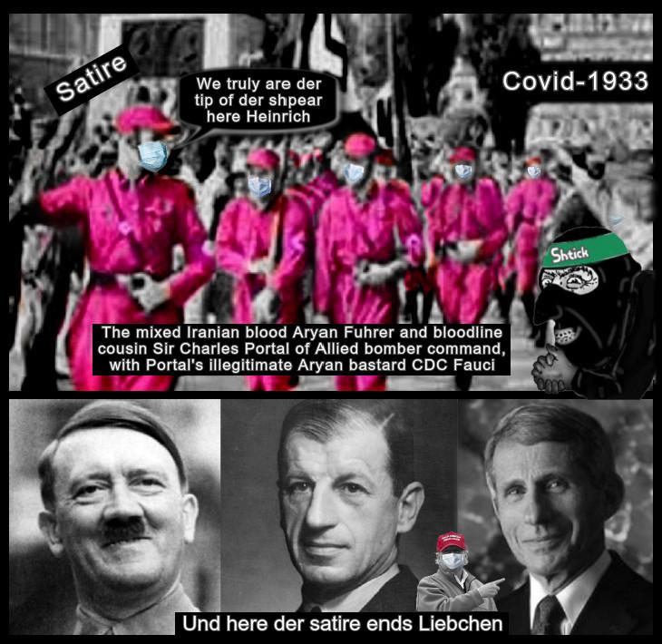 Gay Nazis in Pink Covid-1933 Hitler Portal Fauci (Und here the satire ends Liebchen) TRump MAGA 730
